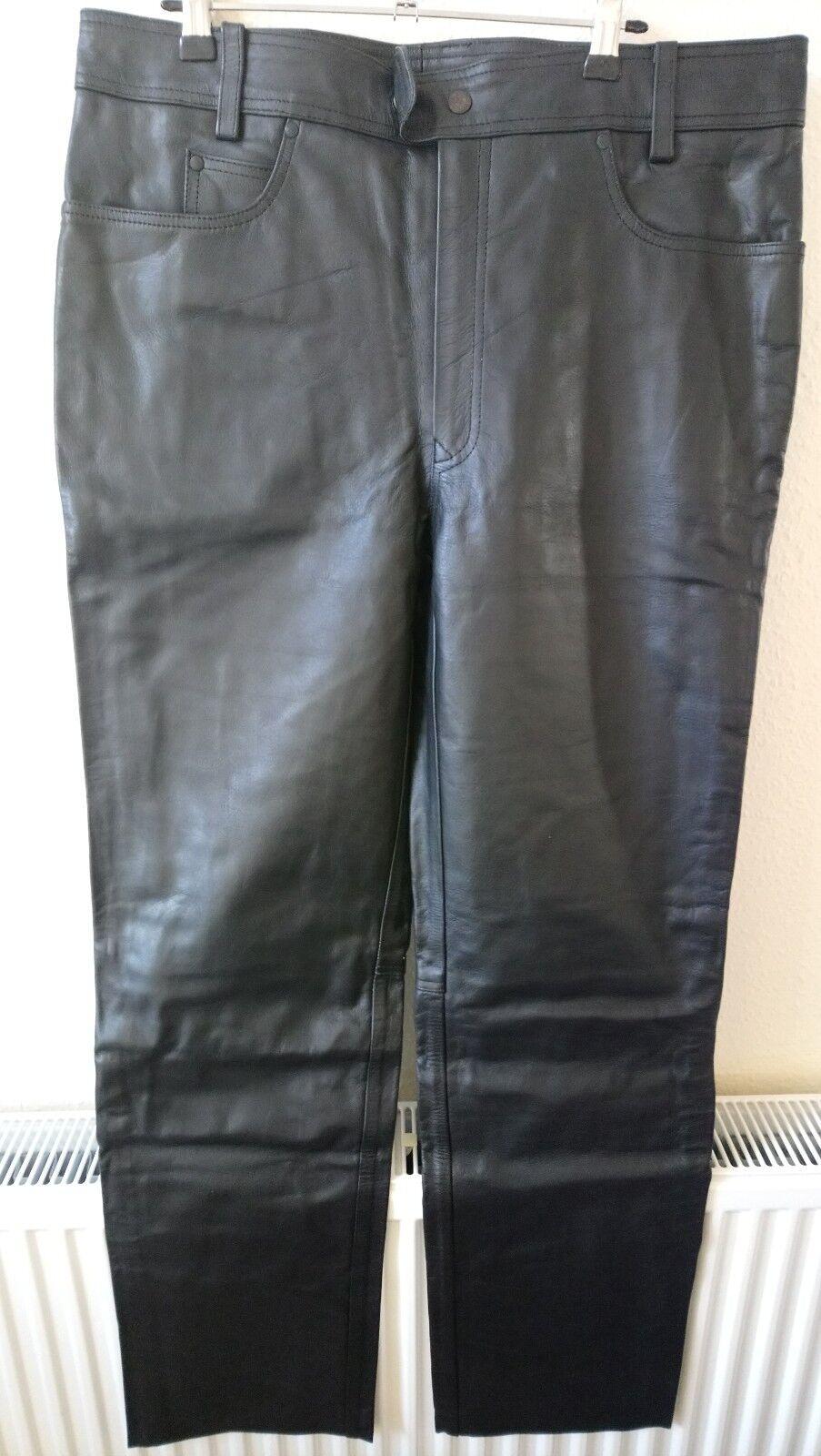 Real cuir Leggings Pantalon Bnwt