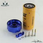 blue 6 6l lb7 lly lbz lmm lml gm chevy duramax cat fuel filter adapter  nicktane