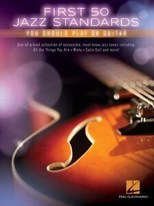 First Jazz Standards Sheet Music Beginning Solo Guitar Book NEW 000115020