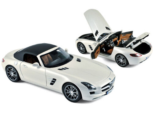 2011 MERCEDES SLS AMG ROADSTER PEARL WHITE 1 18 BY NOREV 183491