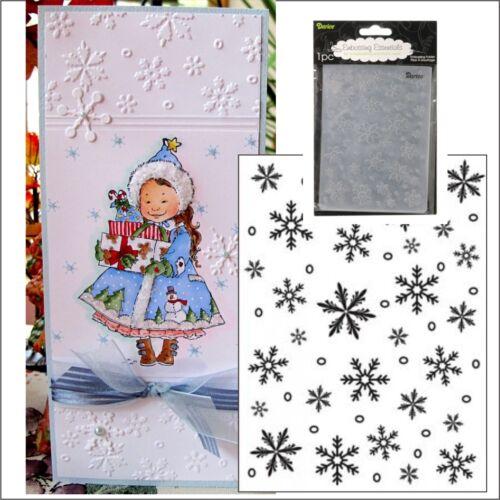 Darice Snowflake Background embossing folder Christmas embossing folders 1215-58