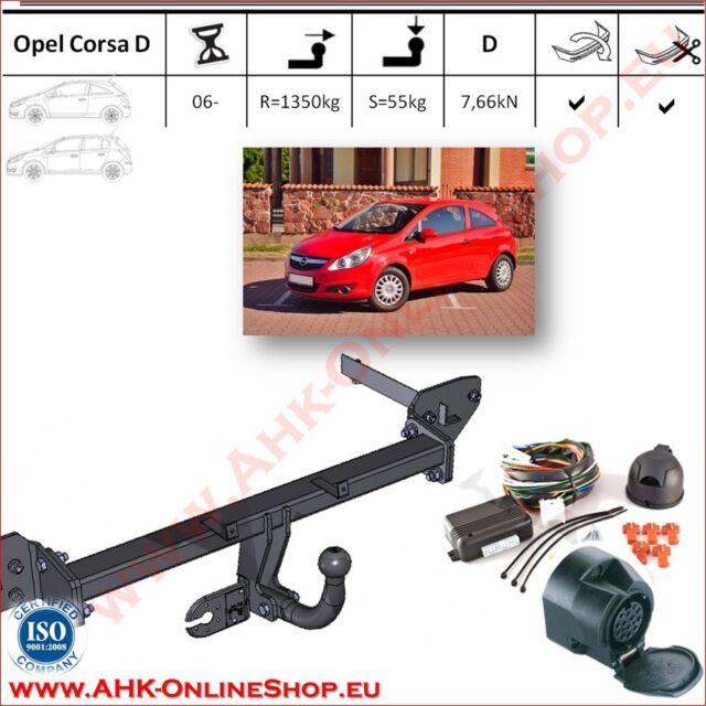 Gancio traino Opel Corsa D 2006- + elettrico 13-poli OMOLOGAZIONE | NUOVO