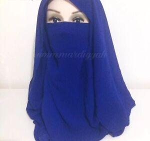 Various Colours VEIL Elastic Half Niqab