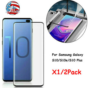 1-2X-Full-Cover-Tempered-Glass-Screen-Protector-For-Samsung-Galaxy-S10e-S10-Plus