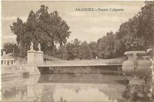 Tarjeta Postal ARANJUEZ. Puente Colgante