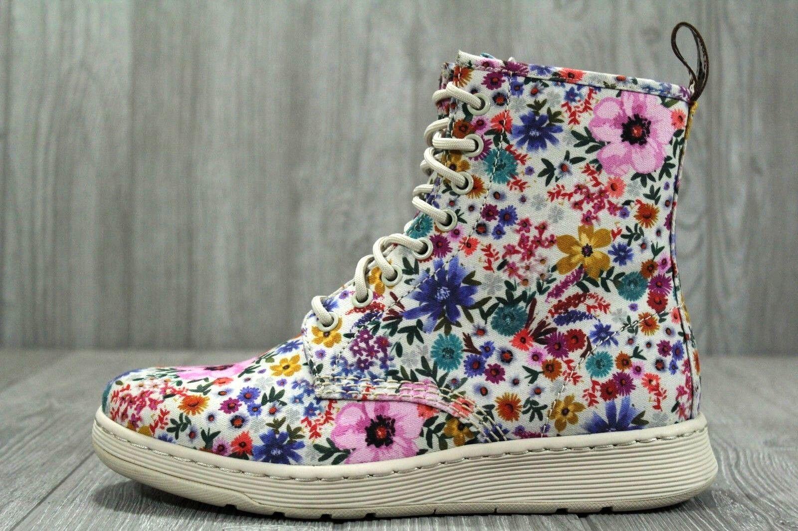 35 Dr Martens Newton WL 8 flores para mujer botas US talla 8 WL (UK 6), 9 (UK 7) d32dc7