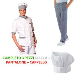 Caricamento dell immagine in corso Completo-da-cuoco -giacca-e-pantalone-sale-e- 36c93b8fa991