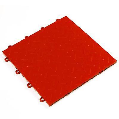 QUICK DIAMOND INTERLOCKING TILES - RED/ GARAGE FLOORING /EXPO/ MOBILE DISPLAYS