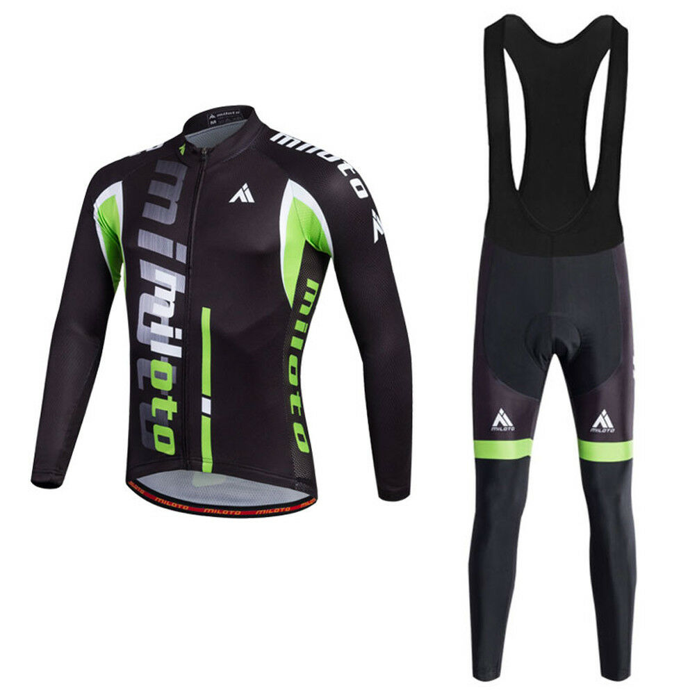 Men's Cycling Clothes Set Reflective Long Sleeve Cycle  Jersey & (Bib) Pants Kit  great offers