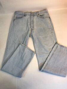 Vintage Levi\u2019s 501 Red Tab Acid Wash Button Fly Blue Jeans 34 X 36 WPL 423 USA San Francisco SF 207