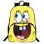 Cartoon Spongebob Kids School Bags for Teenager Backpack Children Schoolbag