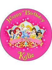 """Disney Princess 7.5 """"papel de arroz Birthday Cake Topper"""