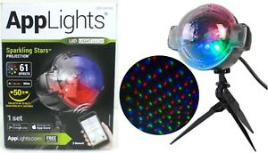 Gemmy-AppLights-LED-Lightshow-SPARKLING-STAR-Projection-61-Effects-NEW