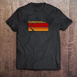 Kodak Logo Camera Photography Black T-Shirt Tee Size S to 3XL