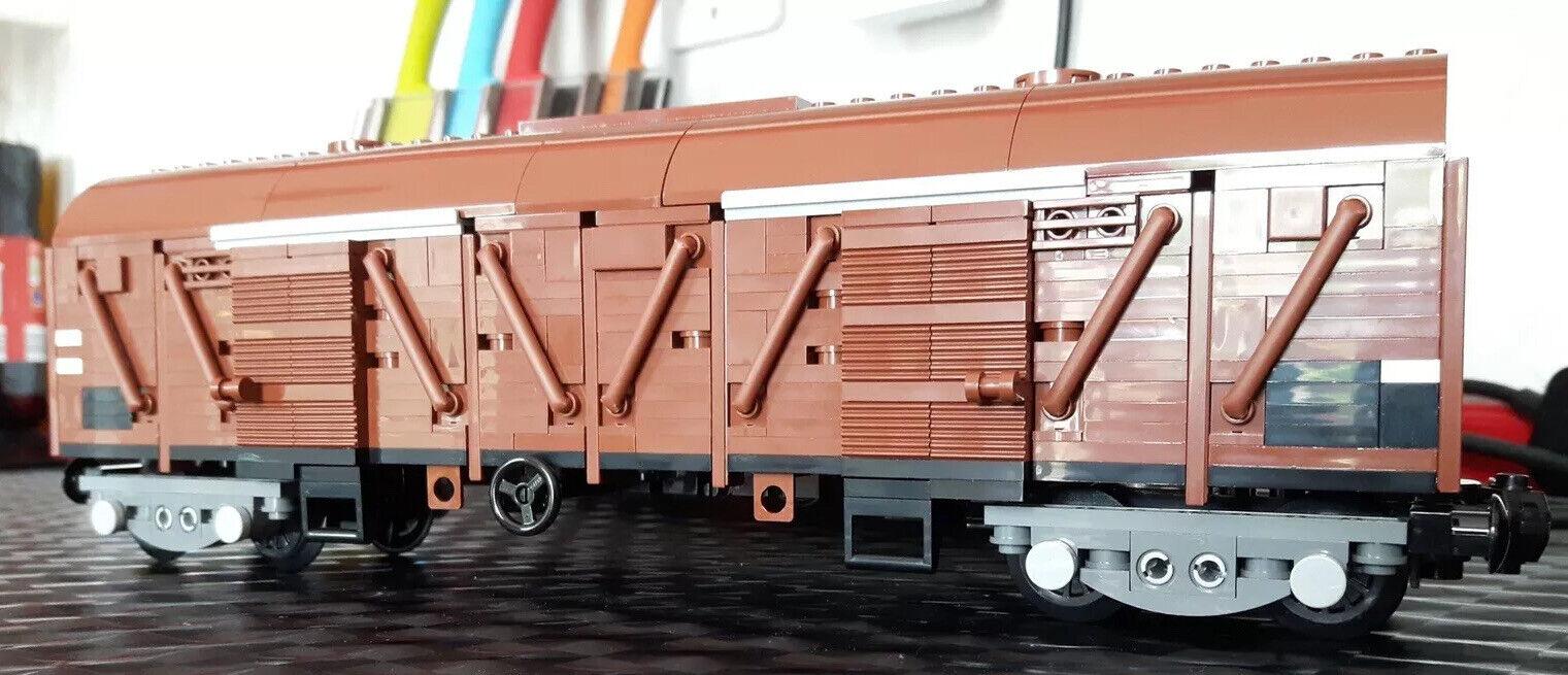 Eisenbahn Waggon Güterwagen aus Lego Moc Unikat Eigenbau