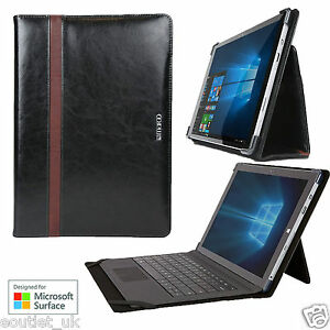Maroo Leather Folio Case Cover Stand Microsoft Surface Pro