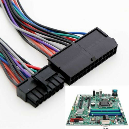24 Pin a 14 Pin Alimentazione Elettrica Cavo Adattatore per Lenovo IBM ATX Nuovo