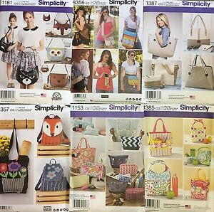 Simplicity US8356OS Womens Festival Bag Sewing Patterns One Size Only
