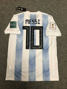 buy online d50ed fab05 Details about 2018 Argentina Lionel Messi Jersey Shirt Kit Adidas Medium  New World Cup Fifa 10