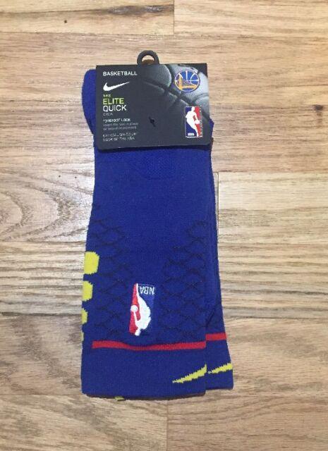 NBA Nike Golden State Warriors City Edition Elite Quick Crew Socks Sz Large 29ee74c5f