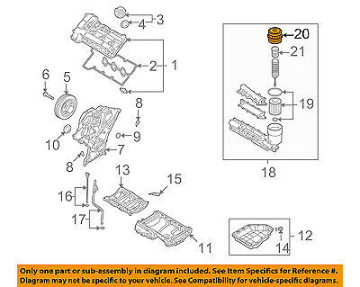 HYUNDAI OEM 09-12 Veracruz 3.8L-V6 Engine-Filter Cover 263503C300 | eBay | Hyundai 3 8l V6 Engine Diagram |  | eBay