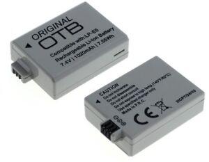 Power Ersetz Akku LP-E5 für Canon EOS 450D 500D 1000D Li-Ion Batterie Battery