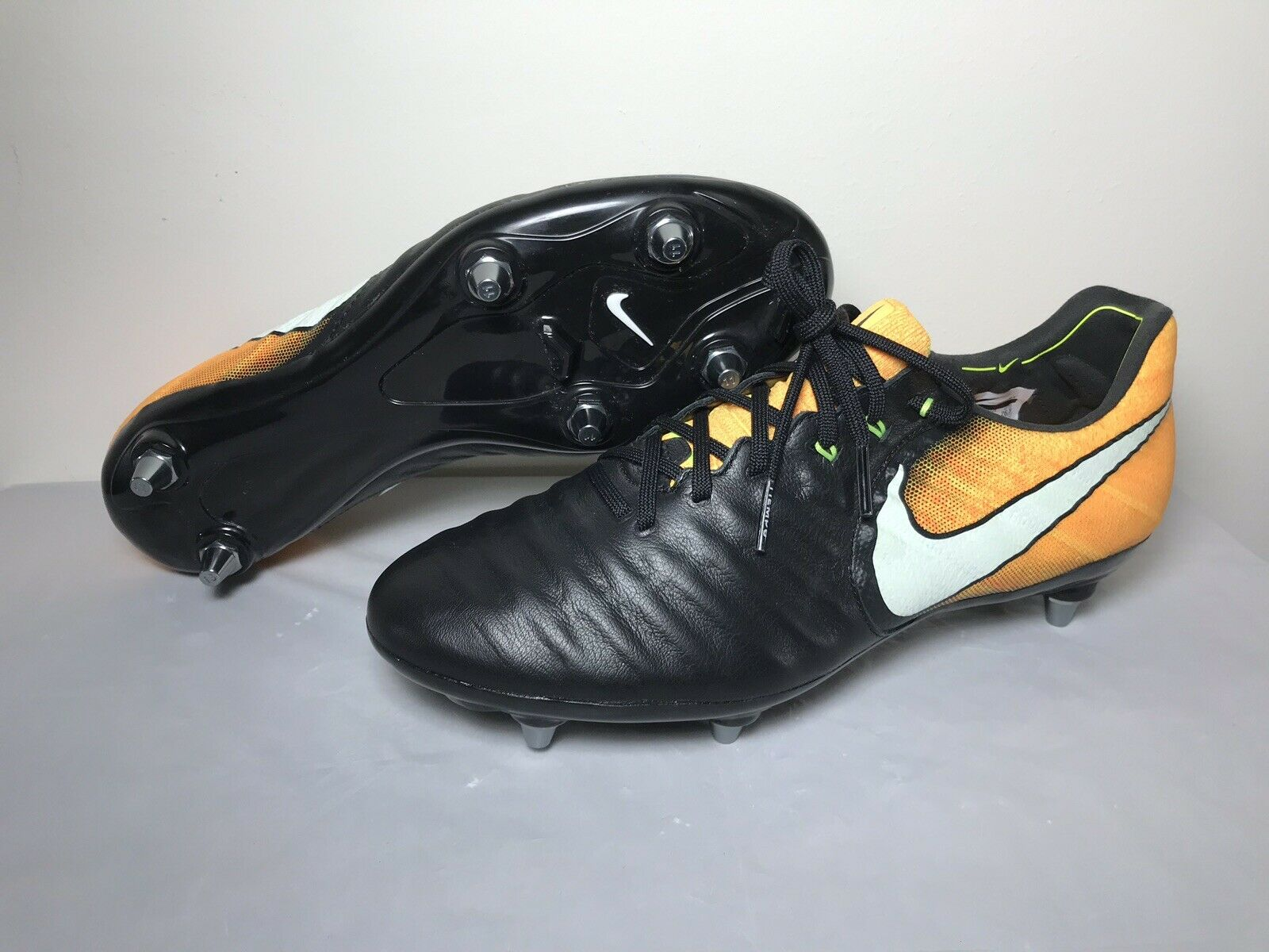 Nike Tiempo Legend VII 7 SG Flyknit ACC Soccer Cleats 921452-009 Size 8.5
