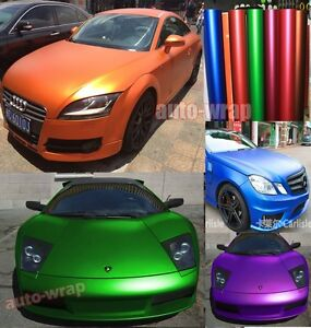 Optional Satin Matte Metallic Chrome Vinyl Entire Car Wrap