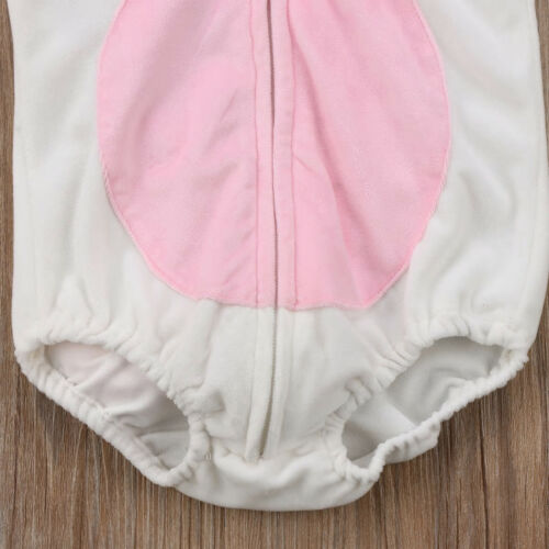 NEW Unicorn Baby Girls White Fleece Romper Halloween Dress Up Costume