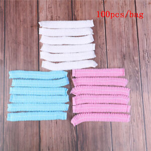 100pcs Microblading Permanent Makeup Disposable Cap Hairnet Catering Stretch&Hat