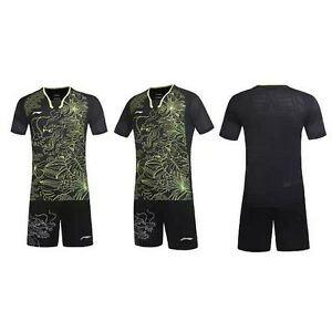 2016 Rio Olympics Li Ning men's Tops table tennis clothing  T-shirt + shorts