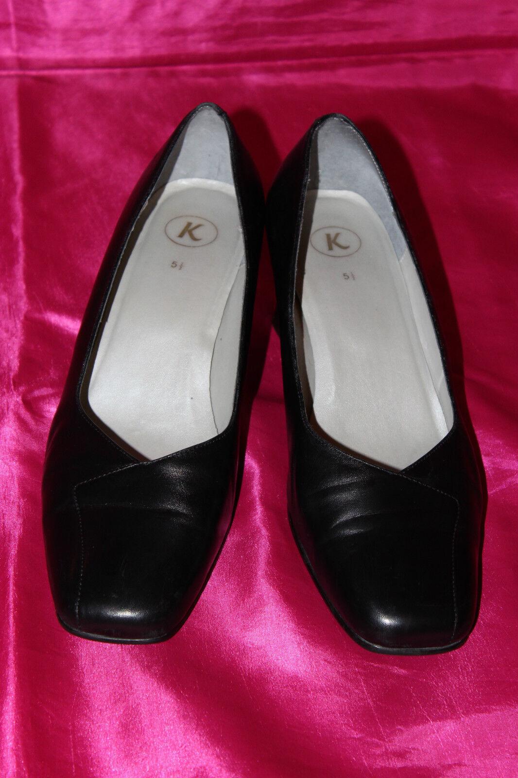 CLARKS  Black Black Black Genuine  Leather Ladies shoes Heels Size 5.5 98a460