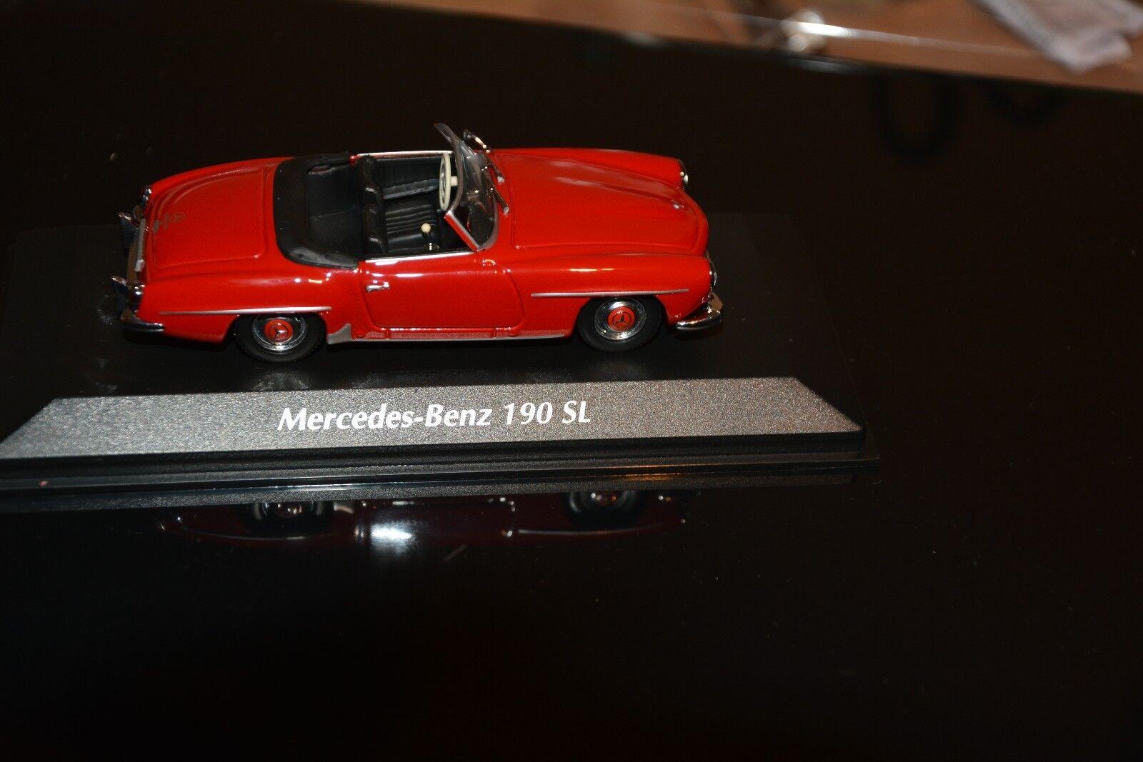 Mercedes Benz 190 SL 1955 rot in 1 43 43 43    Haltbar  262b4d