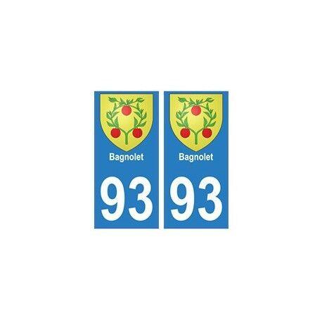 93 Bagnolet blason autocollant plaque stickers ville