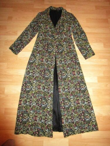 Long 10 Coat 8 Boho Vintage Romantic Tapestry Green Uk Floral Frock Baroque Anx66v4qwY
