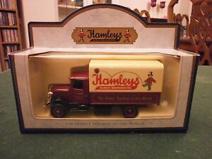 Lledo-Days-Gone-1934-Mack-Canvas-Back-Truck-with-Hamleys-decals