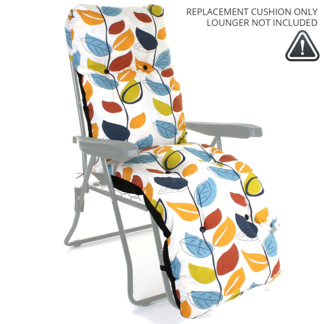 Outdoor Garden Sun Lounger Cushion Thick Padded Spare Patio Recliner