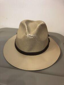 Tombstone Explorer Canvas Fedora Hat Men S Size L Large Ebay
