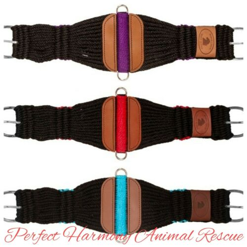 """Black Roper Cinch with a Pop of Color 27-Strand Rayon 28/"""" 30/"""" 32/"""" 34/"""" 36/"""" NEW"""