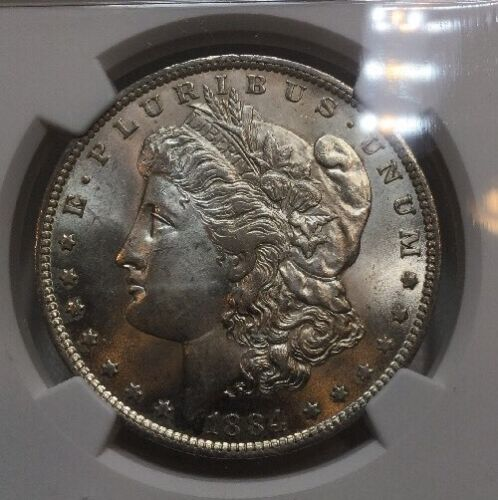 Radiant Mint Luster MS 63 Blast White 1884-O NGC MS63 Morgan Silver Dollar