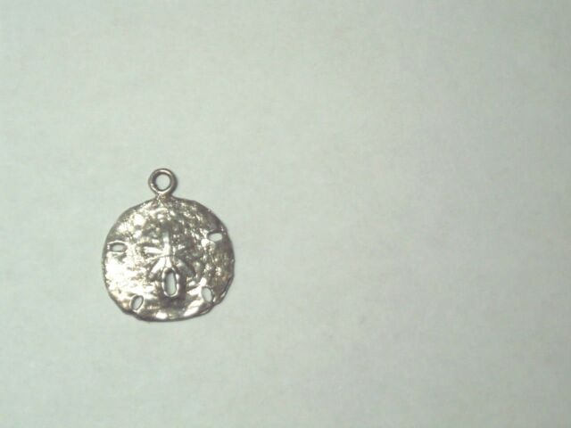 Vintage Sterling Silver 925 Sand Dollar Star Fish Charm Pendant 7/8