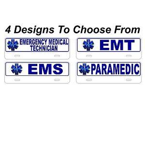Ems License Plate Topper Emt Paramedic Firefighter Half