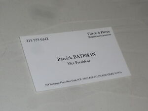 American psycho business card patrick bateman christian bale image is loading american psycho business card patrick bateman christian bale colourmoves