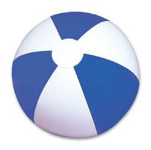 """6 BLUE AND WHITE BEACH BALLS 14"""" Pool Party Beachball NEW #SR47 Free Shipping"""