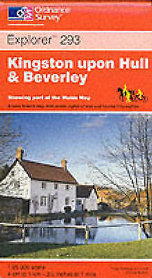 Kingston-upon-Hull and Beverley (Explorer Maps), Ordnance Survey, Very Good Book