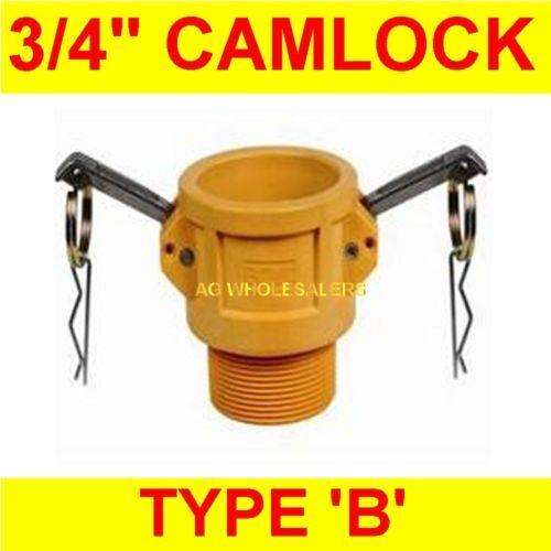 "CAMLOCK NYLON TYPE B 3//4/"" CAM LOCK IRRIGATION FITTING"