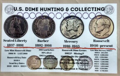 """Eisenhower Dollars Hunting and Collecting 11/"""" x 17/"""" Coin Roll Sorting Mat U.S"""