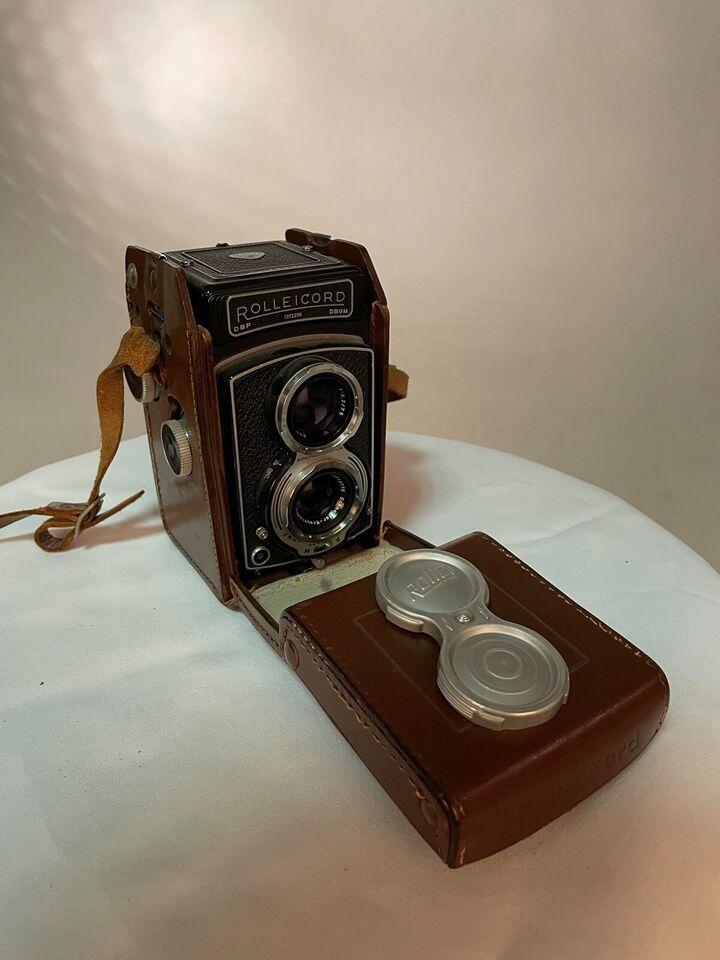 Andet, Rolleicord DBP - DBGM inkl taske i læder, God