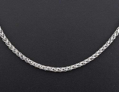 18K White Gold 55cm Stainless Steel Curb Chain Men Necklace 3mm