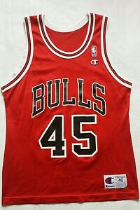 316620c44 Image is loading Vintage-Rare-Chicago-Bulls-Michael-Jordan-Champion-Jersey-